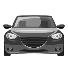 Car icon gray monochrome style vector image vector image