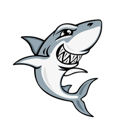 cartoon smiling shark vector image vector image