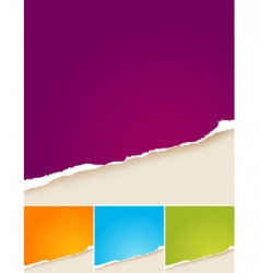 colored ripped papers vector image