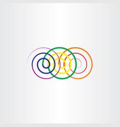 Colorful spirals design element vector