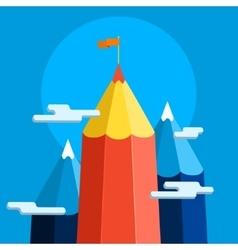 Concept of creative success Goal achievement vector image