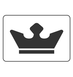 Crown icon flat 3 vector