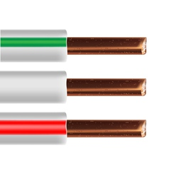 Electric cable vector