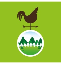 Farm countryside weather vane design vector