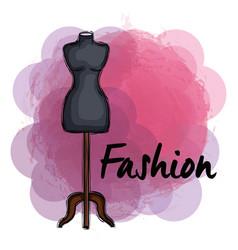 Female fashion manequin icon vector