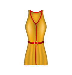 female sexy dress in retro design vector image