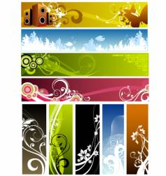 floral graphic backgrounds vector image