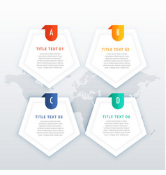 Four steps infographic banners set for business vector