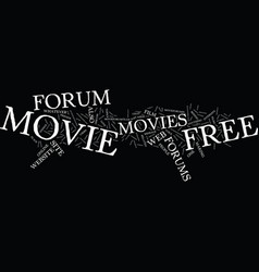 Free movie forum text background word cloud vector