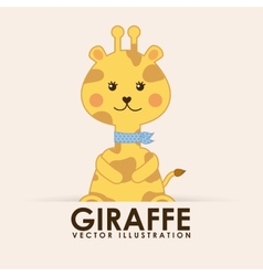 Giraffe cute vector