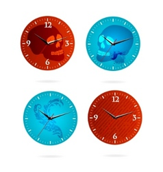 grunge time vector image