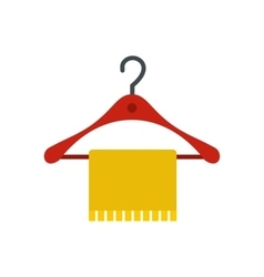 Hanger and towel icon flat style vector image vector image