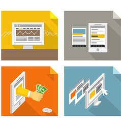 Modern gadgets and web page templates collection vector image