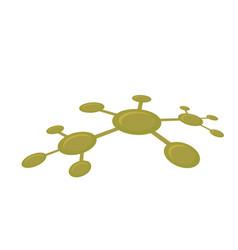 molecular network vector image