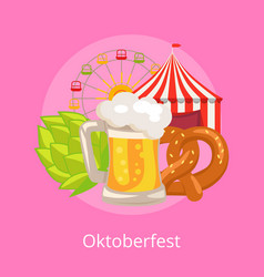 Oktoberfest food and drinks vector