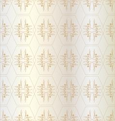 Pattern of hexagons golden vector