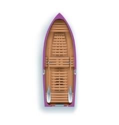 rowing boat promenade vector image