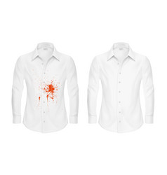 set of of a white shirt with vector image vector image