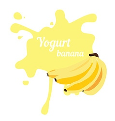 Splash of banana yogurt vector image