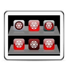 Target red app icons vector image