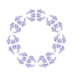 Ukrainian blue wreath vector