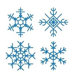 Various winter snowflakes set vector image vector image