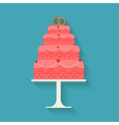 Wedding cake style flat vector image