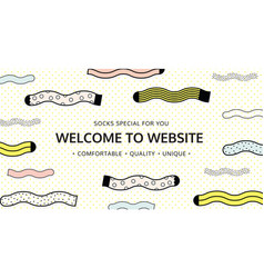 welcome to website for socks shop vector image