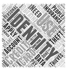 What is identity theft word cloud concept vector
