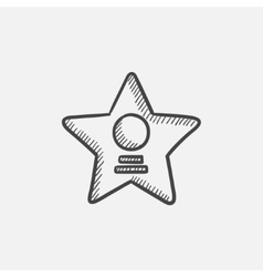 Cinema star sketch icon vector