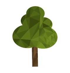 Polygon texture tree icon vector