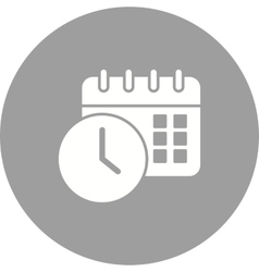 Scheduled Date and Time vector image