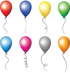 Colourful balloons set vector image