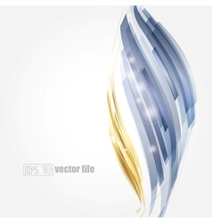 Abstract bright blue and gold background vector image