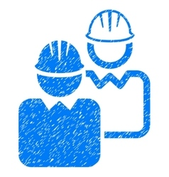 Industrial users grainy texture icon vector