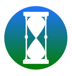 Hourglass sign white icon in vector