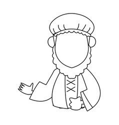 Wise man epiphany manger character design vector