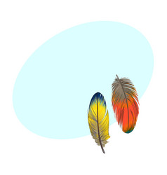 two hand drawn smoth orange and yellow tropical vector image