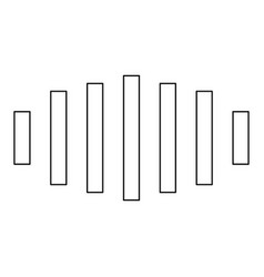 Digital signal black color path icon vector