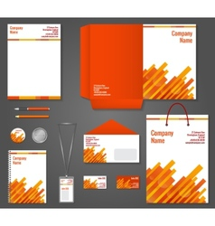 Geometric technology business stationery template vector