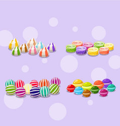 Four colorful candy vector image