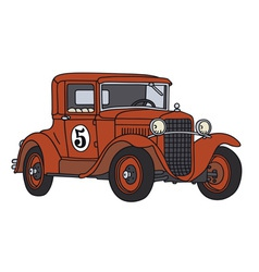 Old racing car vector