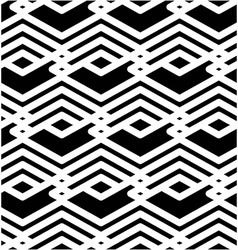 Black and white abstract ornament geometric vector
