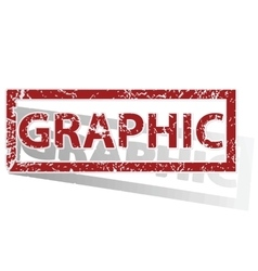 Graphic outlined stamp vector