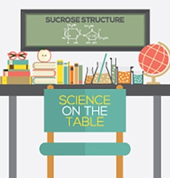 Flat design science on the table vector