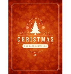 Christmas snowflakes and typography label design vector