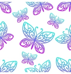 Seamless texture butterfly colored vector