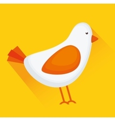 Bird or birdie animal vector