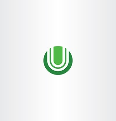 green circle logotype u logo letter u icon vector image