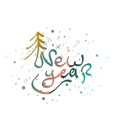 New year lettering word vector